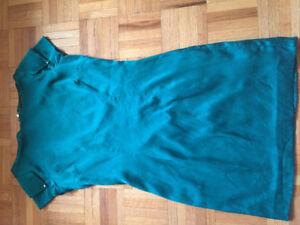 MARCIANO green silk dress