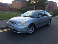 2002 HONDA CIVIC VTEC COUPE LEATHERS LOW MILES LADY OWNED £995