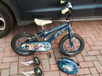 Ben 10 bike with matching helmet and stabilisers