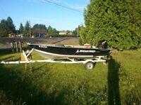 14 ft Legend boat 20 HP Mercury 2 stoke package with trailer