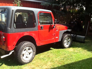 1997 Jeep TJ C/W Snow Plow