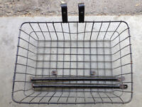Front, rear and back rack baskets