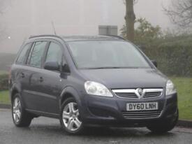 7 SEATS Vauxhall Zafira 1.6 16v 2010 Exclusive +1 OWNER + FSH + WARRANTY