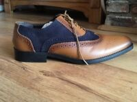 Brogues, new, Tan and Navy SIZE 12
