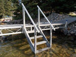 Shoremaster Dock Steps with Hand Rails