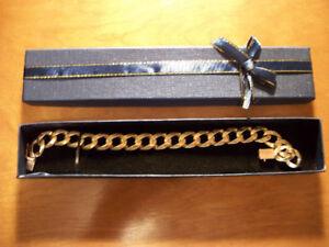 Mens 10K Solid Gold Bracelet