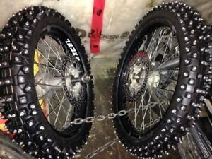 yamaha WR roues  pour glace