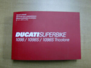 DUCATI SUPERBIKE 1098 1098S OWNERS MANUAL Cambridge Kitchener Area image 1
