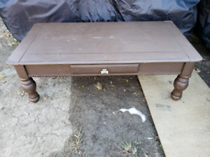 Painted Coffee Table with Drawer