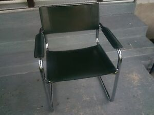 4 - Elegant metal frameI leather Visitor office chair/Dining