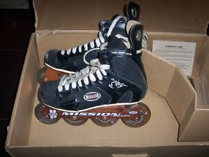 Mission Violator Rollerblades ~ Size 7 adult youth
