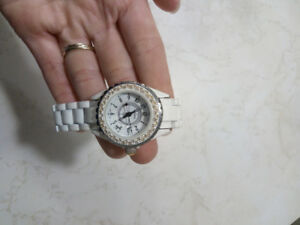 White automatic Chanel watch