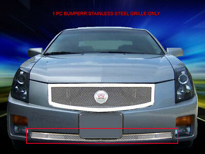 Mesh Grille Front Bumper Grill Stainless Steel For Cadillac CTS 2003-2007