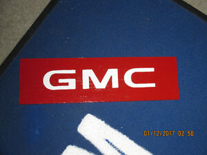 GMC Sign Red.