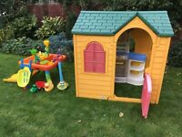 Little Tykes Playhouse With Family Kitchen, Early Learning Outdoor Sandpit