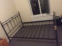 Good condition double metal Bed frame