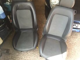Half leather corsa seats 2006 onwards