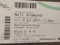 Neil Diamond Concert Tickets For 13 October 2017