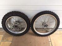 WE 450 Yam Enduro wheels