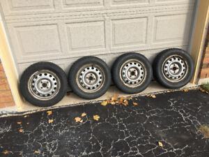 4 winter tires with 4 rims
