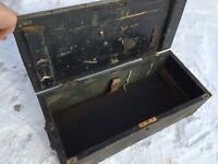 Antique Solid Wood Tool Box