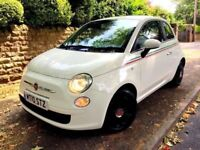 **AUTOMATIC** 2010 FIAT 500 POP DUALOGIC AUTO 1.3 PETROL WHITE HATCH 3 DOOR