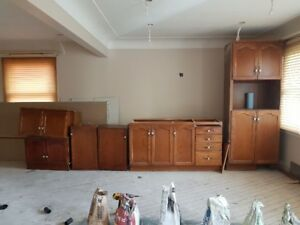 SOLID WOOD KITCHEN CABINETS- GREAT FOR BASEMENT APARTMEMT