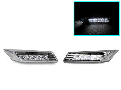 FOR 05-12 PORSCHE 911//997//987//BOXSTER//CAYMAN CLEAR LED BUMPER SIDE MARKER LIGHTS