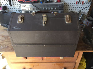VINTAGE KENNEDY MACHINIST'S TOOL BOX/TACKLE BOX !!