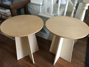 PAIR OF DECORATOR TABLES