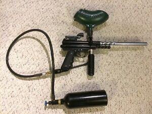 Spyder Paintball Marker with tons of upgrades and extras