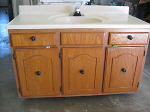 Bathroom vanity and counter top with sink