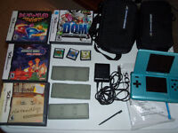 Nintendo DS with 7 games and extras