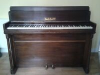"""RUSSELL & RUSSELL Ltd SMALL PIANO, 39""""/100cm high back, Full 7 Octaves"""