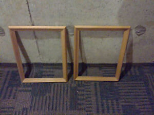 Set of 2 wooden frames size 16 x 14 inches Brand new London Ontario image 1