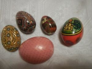 Hand made painted eggs set of 5