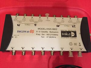 9x8 DGS-9802 multiswitch with power supply Digiwave barely used Gatineau Ottawa / Gatineau Area image 3