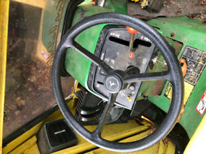 John deer tractor with blower