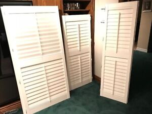 California Indoor Window Shutters - Vinyl, great condition