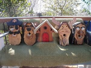 HANDCRAFTED BIRDHOUSES – 5 DIFFERENT DESIGNS