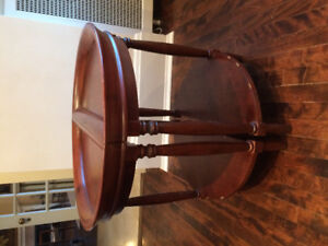 Mahogany antique Demi-lune tables for sale