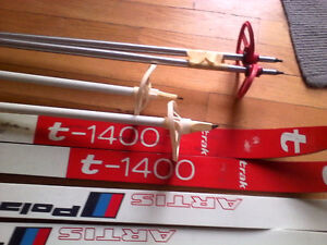 Free skis and poles - found in trash