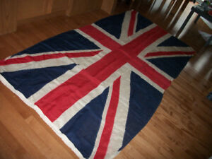 Linen British Union Jack flag (WW l) 50 x 100 inches 225$
