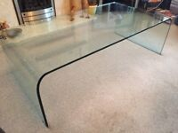 Rolled Glass Marks and Spencer Coffee Table