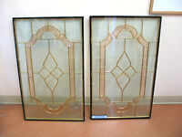Decorative STAINED GLASS & WROUGHT IRON DOOR INSERTS