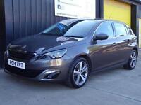2014 (14) Peugeot 308 1.6 HDi Allure 5dr Diesel £0 road tax (free) *sat nav*