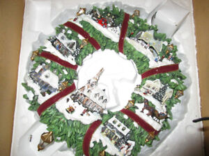 MISC.  ORNAMENTS  LIGHTED  CHRISTMAS HOUSES  ETC.,