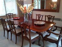 ANTIQUE GENUINE CHIPPENDALE CLAW FOOT 8FT DINING SET