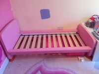CHILD'S PINK IKEA BED