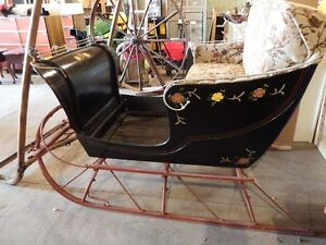 vintage sleigh cutter Shopping Mall Decoration Parades Christmas